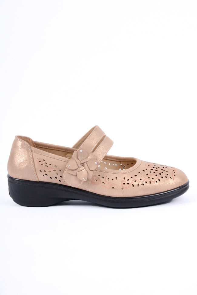 Oprah Rose Gold Dr Lightfoot Shoe 3x8
