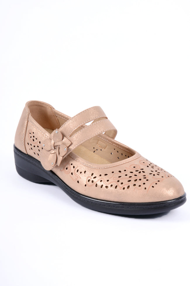 Oprah Rose Gold Dr Lightfoot Shoe 4x8
