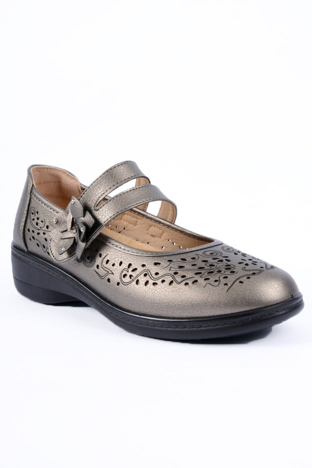 Oprah Pewter Metallic Dr Lightfoot Shoe 4x8