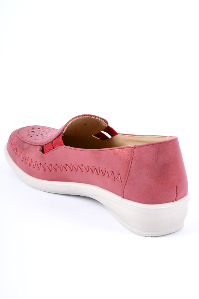 Florence Red Metallic Dr Lightfoot Leisure Shoe 3x8