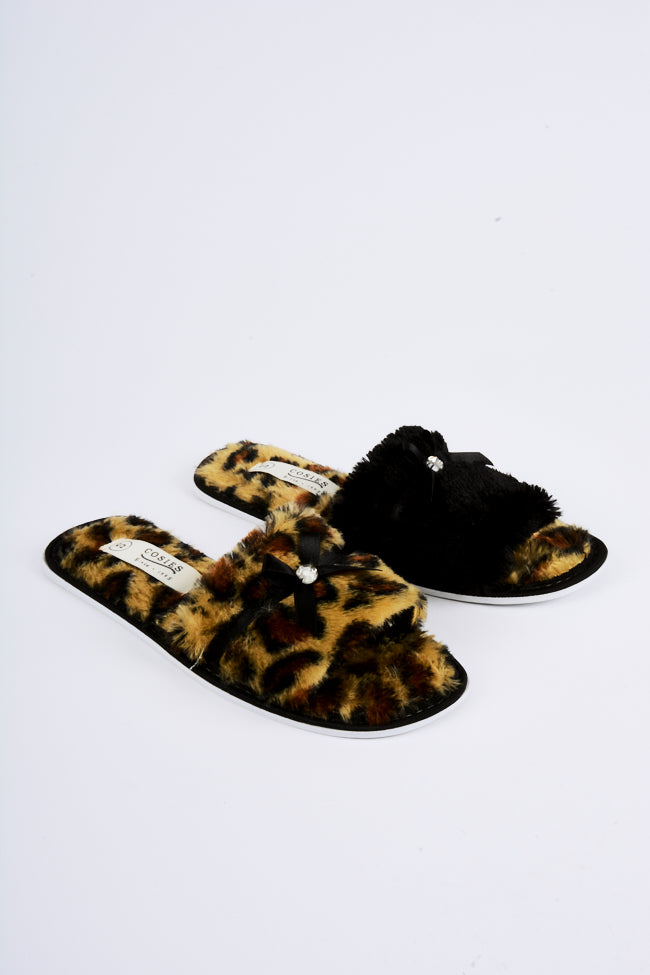 Kitty Leopard Slipper 2 Pack