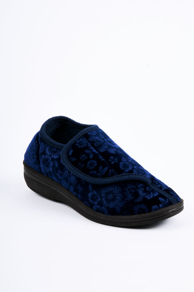 Michaela Raspberry/Navy Slipper 2 Pack