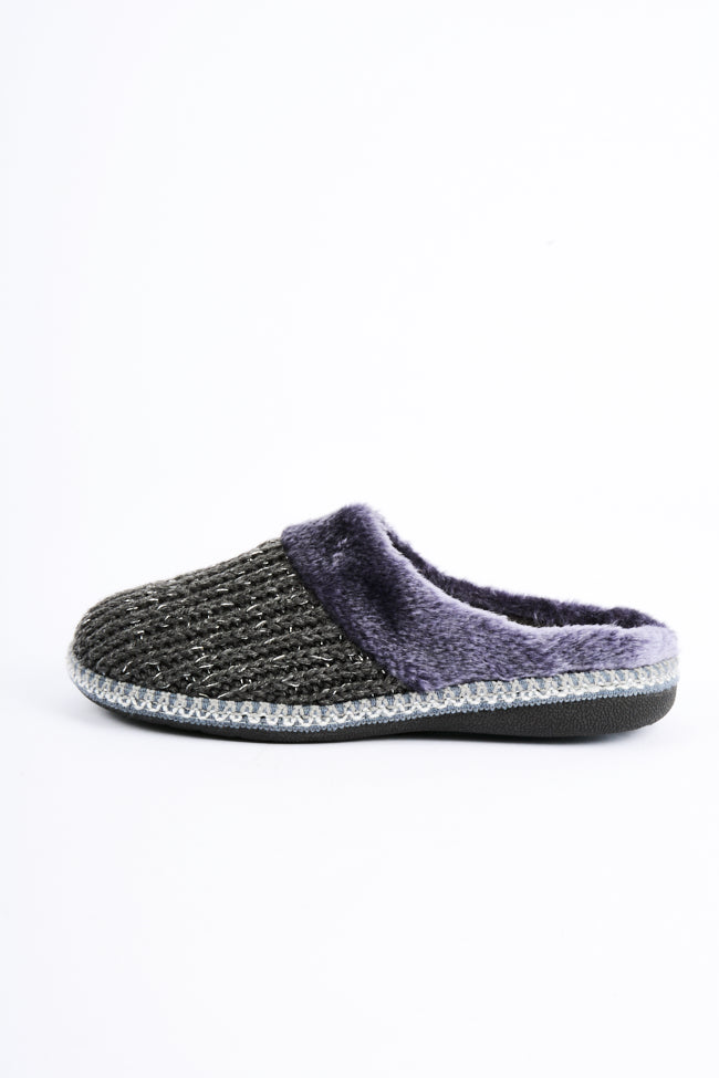 Emma Black & Grey 2 Pack Slipper