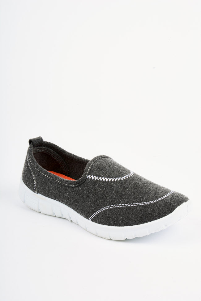 Sana Grey/Burgundy Slipper 2 Pack