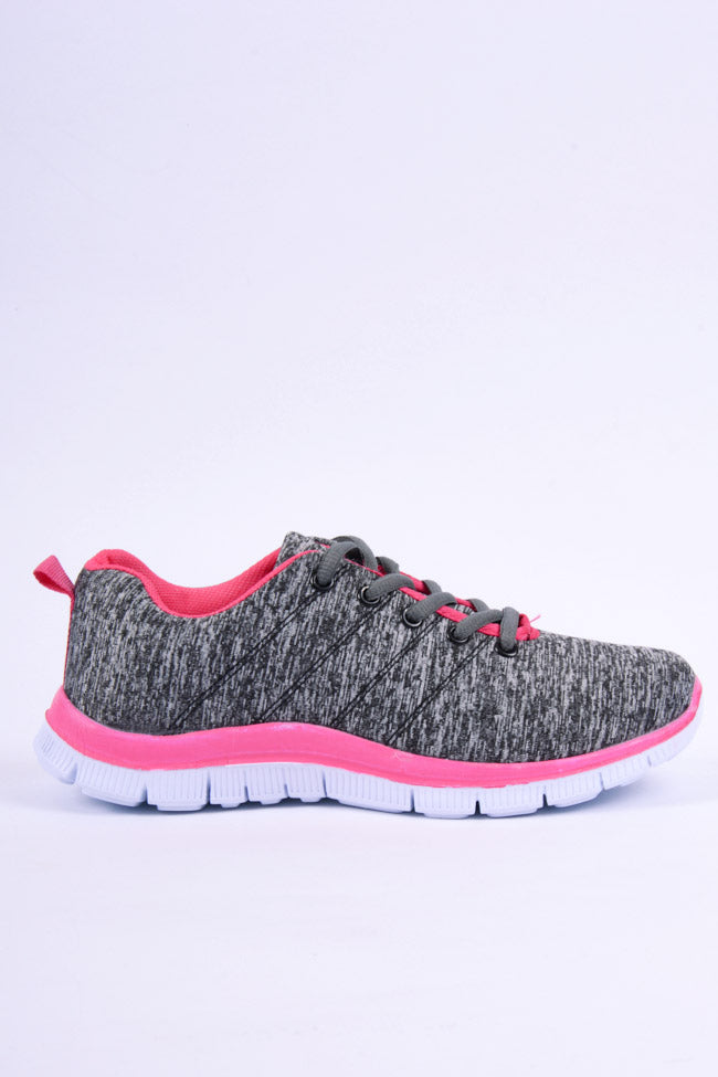 Venus Trainer Grey and Pink