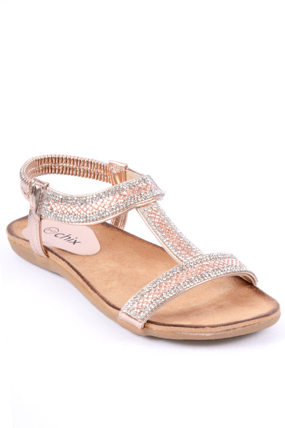 Aurora Rose Gold Sandal