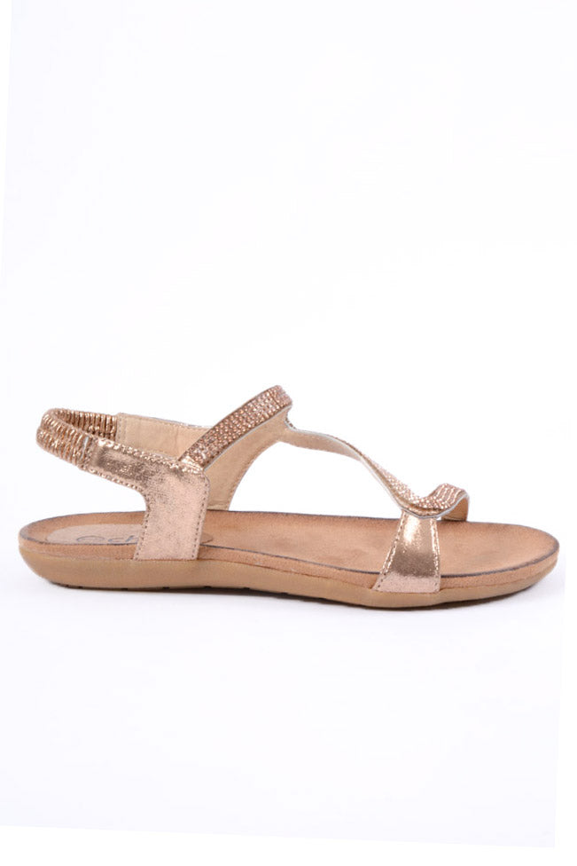 Belle Rose Gold Sandal