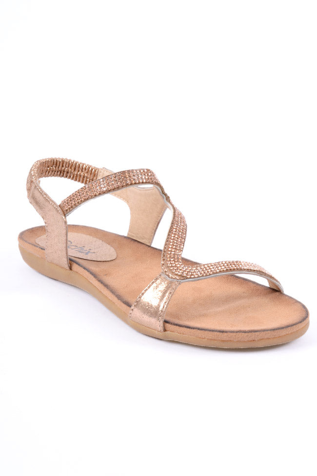 Kadie girls Rose Gold Sandal
