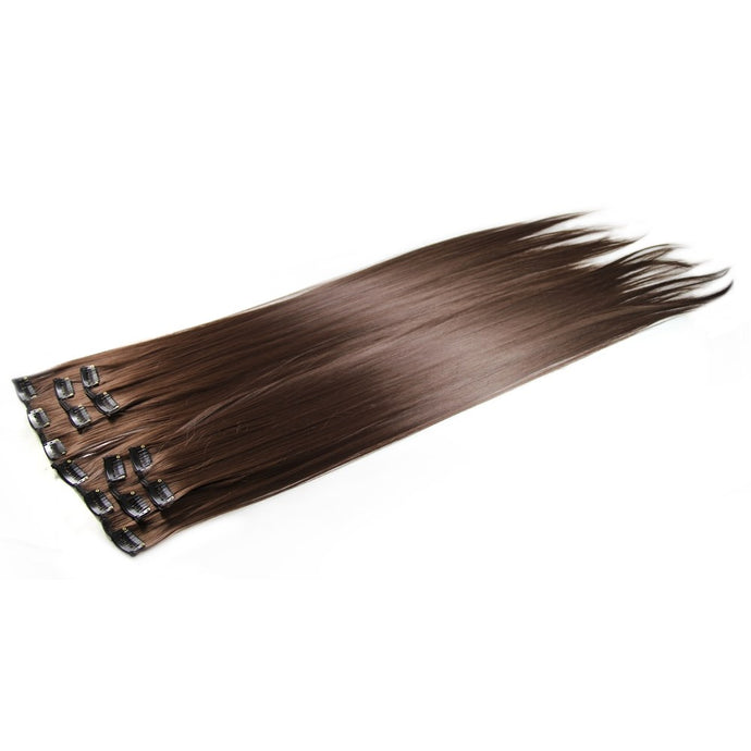 4# Deluxe Clip In Hair Extensions 24