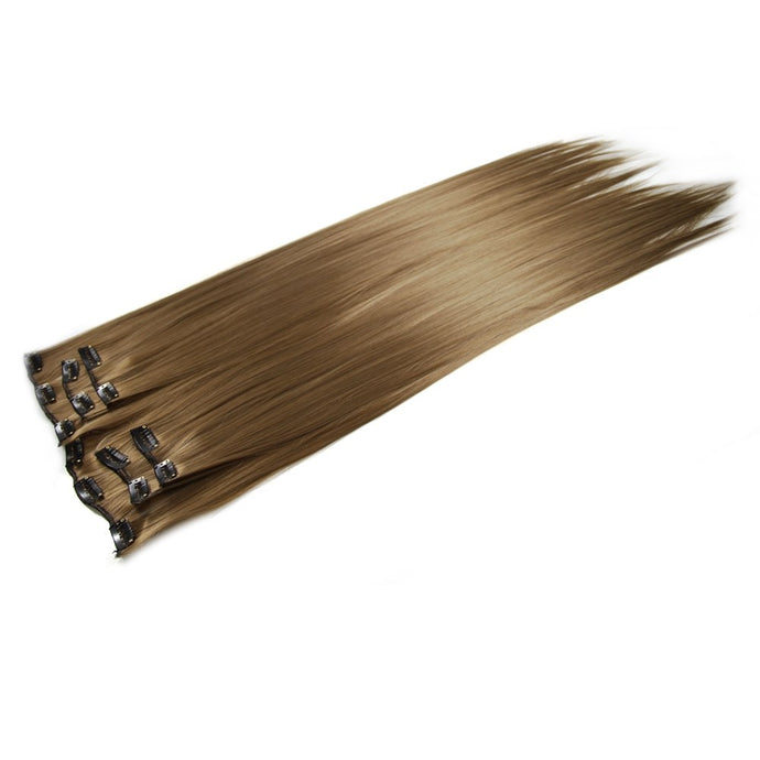 8# Deluxe Clip In Hair Extensions 24