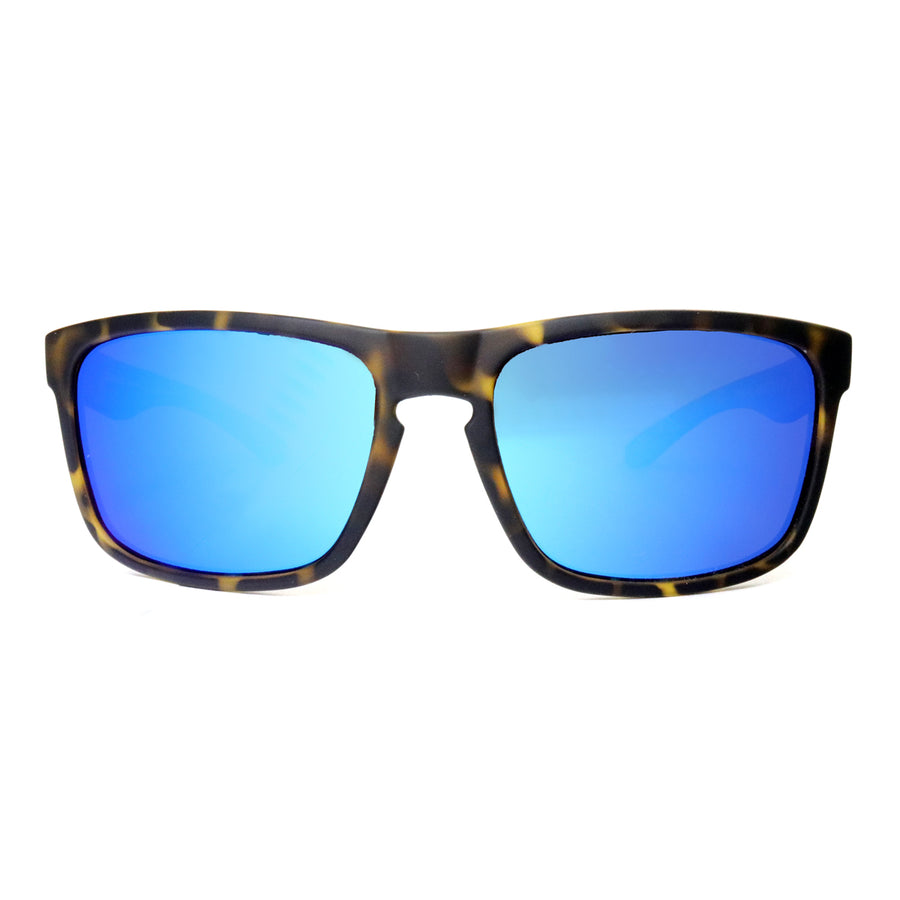 Sunset Blvd - Tortoise Shell with Blue Mirror Lens