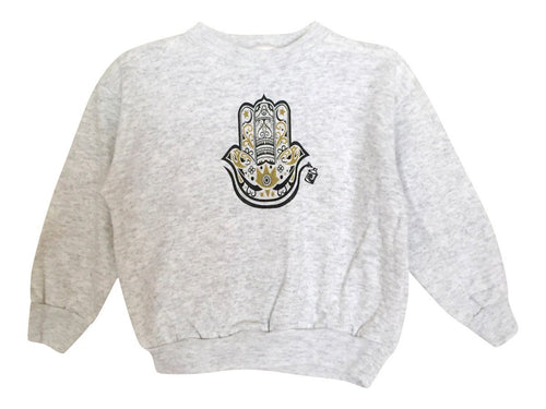 Kids - Kid's Fleece Hamza Hand Pullover - Heather Gray