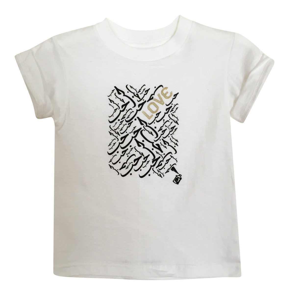 Kids - Little Girl's Love Tee- White