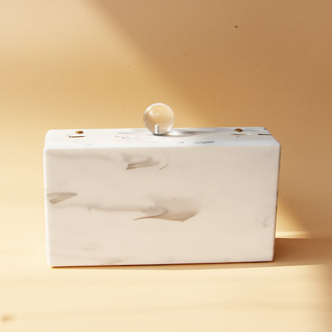 Marble Box Clutch Bag