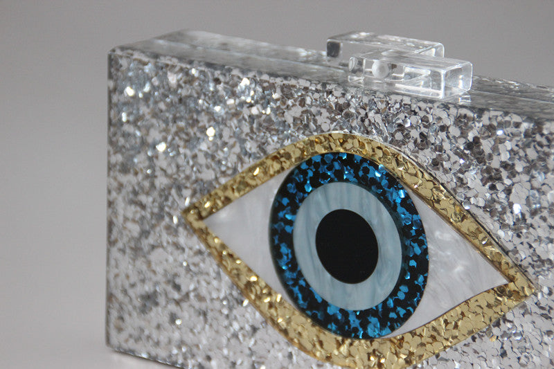 Evil Eye Acrylic Clutch Handbag