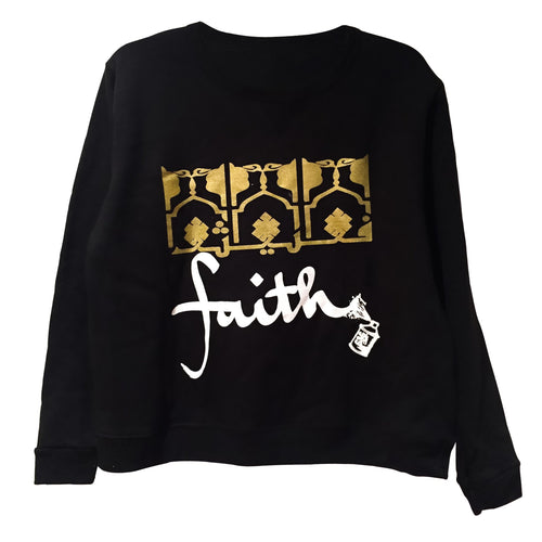 Sweatshirts - Fleece FAITH Pullover - Black