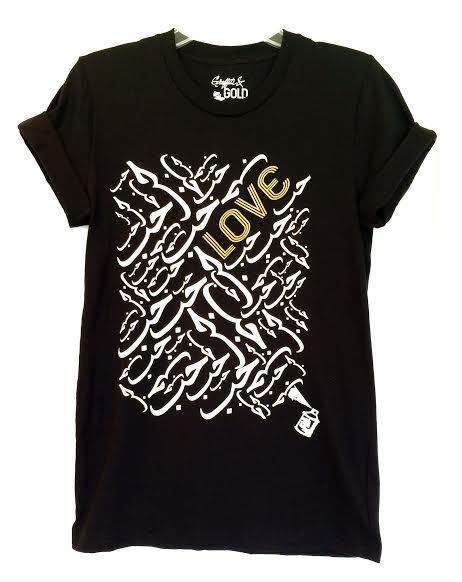 Tees - Arabic Love Tee- Black