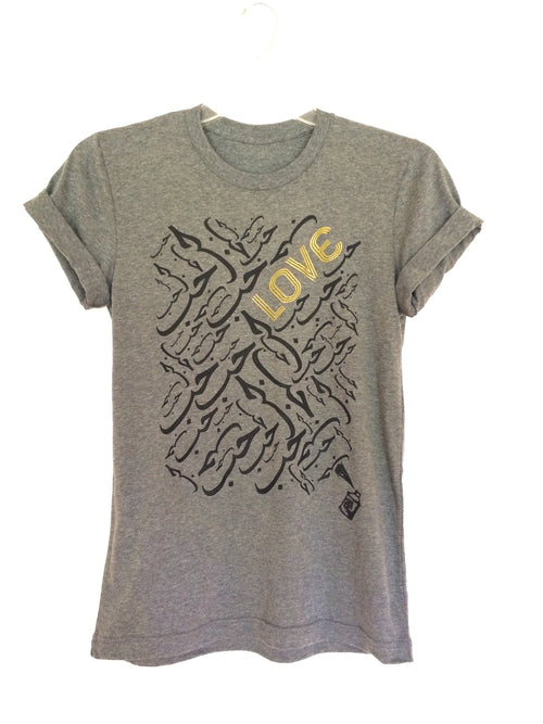 Tees - Arabic Love Tee- Gray