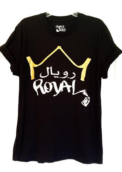 Tees - Arabic Royal Tee- Black