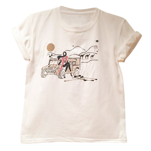 Tees - Desert Girl Tee- White