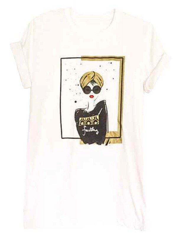 Tees - Turban Girl Short Sleeve T-shirt- White