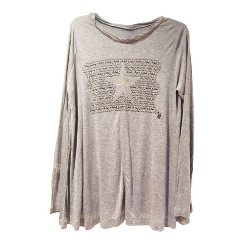 "Tunics - Arabic ""Dream"" Long Sleeve Tunic- Grey"