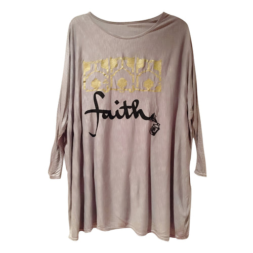 Tunics - Arabic FAITH 3/4 Sleeve Tunic - Grey