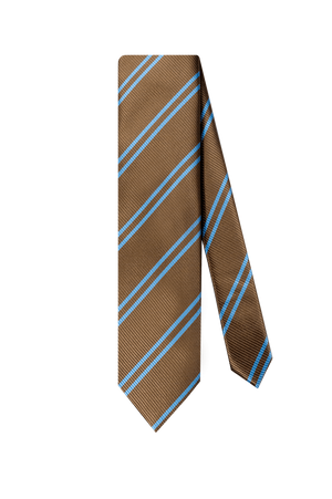 BROWN W/ LIGHT BLUE STRIPE