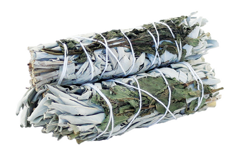White Sage and Peppermint Smudge Stick - Smudge Stick - Sage Bundle - Sage Stick - Prosperity - Cleansing - Renew - Smudging - my fantasy tea x Matcha Universe x Sage Kit