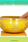 Yellow Tibetan Singing Bowl - Meditation Mindfulness
