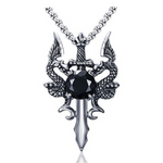 Black Dragon's Sword Necklace