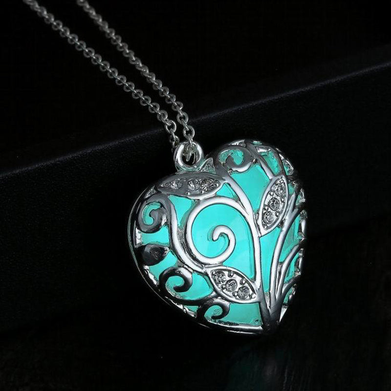 Glow-in-the-Dark Heart Necklace