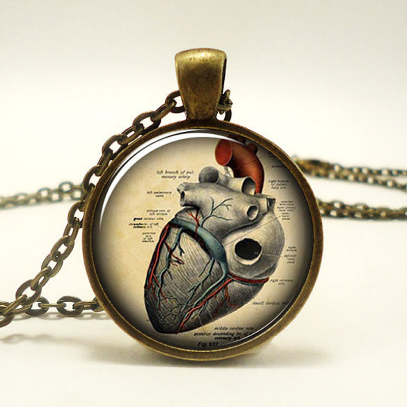 "Steampunk Necklace ""Anatomically correct Heart"" - Anhänger - SteampunkSpirit"