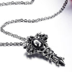 Silver Cross Necklace - Anhänger - SteampunkSpirit
