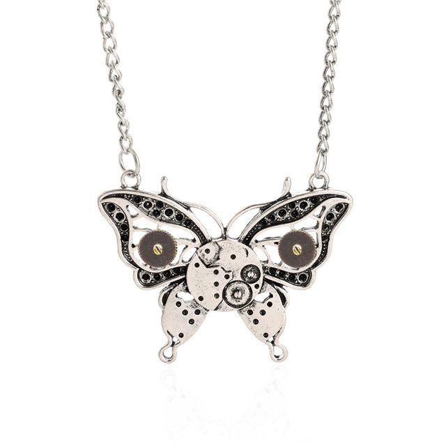 Butterfly Steampunk Necklace - Anhänger - SteampunkSpirit