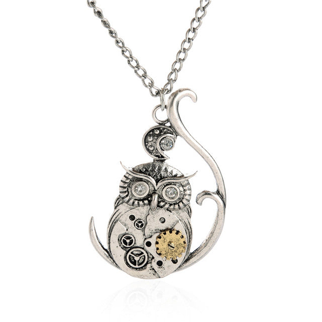 Owl Steampunk Necklace - Anhänger - SteampunkSpirit