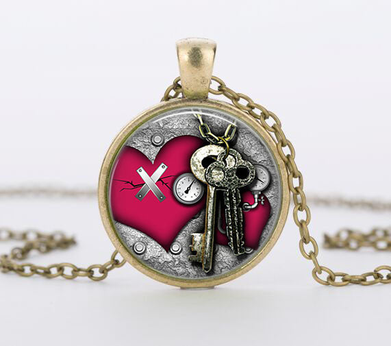 "Steampunk Necklace ""Key"""