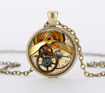 "Steampunk Necklace ""Cog Watch"""