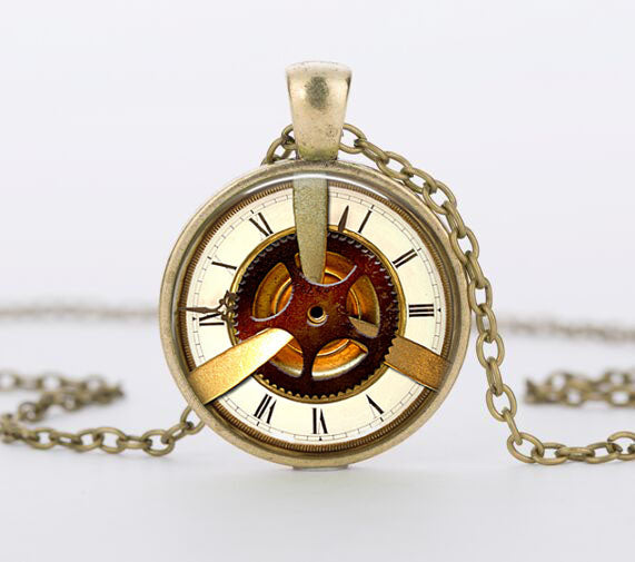 "Steampunk Necklace ""Vintage Watch 2"" - Anhänger - SteampunkSpirit"