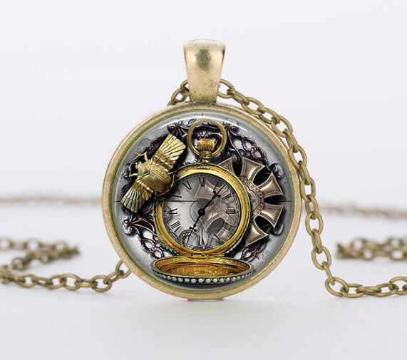 "Steampunk Necklace ""Clockwerk 2"" - Anhänger - SteampunkSpirit"
