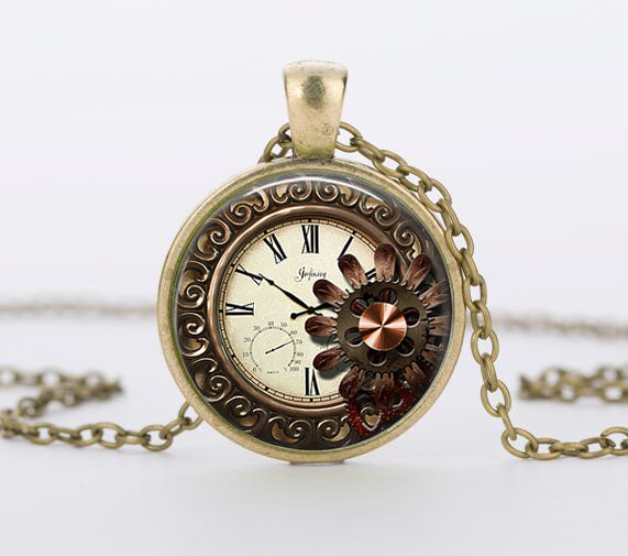 "Steampunk Necklace ""Vintage Watch"" - Anhänger - SteampunkSpirit"