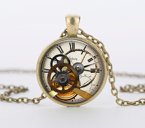 "Steampunk Necklace ""Clockwerk 1"""