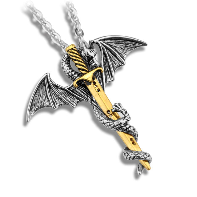 Dragon's Sword Necklace - Anhänger - SteampunkSpirit