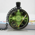 "Steampunk Necklace ""Emeral Watch"" - Anhänger - SteampunkSpirit"