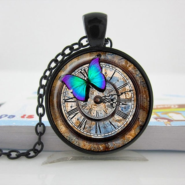 "Steampunk Necklace ""Butterfly Watch"""