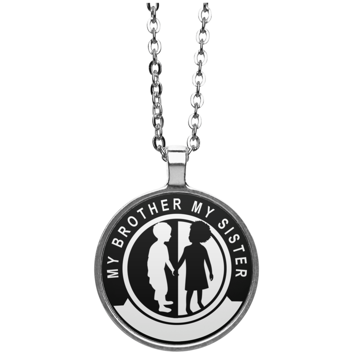 My Brother My Sister, circle Necklace - Cloud9 Unlimited