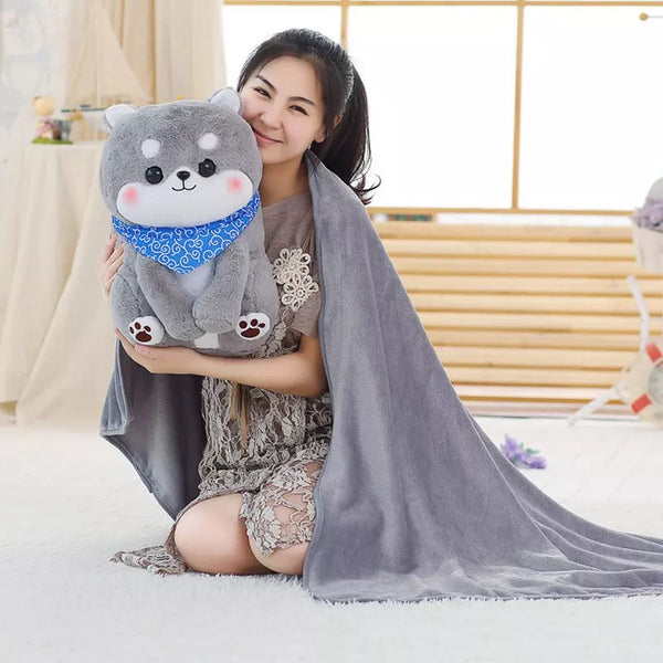 Kawaii Dog Pillow & Blanket