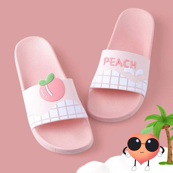 Kawaii Peach Slippers