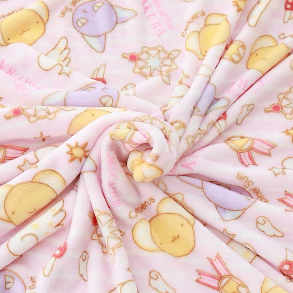 Kawaii Cartoon Pillow & Blanket