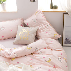 Bunny And Moon Bedding Set
